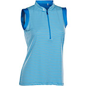 Nancy Lopez Women's Geo Sleeveless Golf Polo - Plus Size
