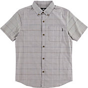 O'Neill Boys' Gridlock Woven Short Sleeve Shirt