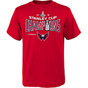 NHL Youth 2018 Stanley Cup Champions Washington Capitals Locker Room Red T-Shirt