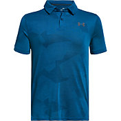 Under Armour Boys' Threadborne Jacquard Golf Polo