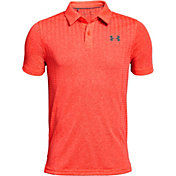 Under Armour Boys' Threadborne Outer Glow Golf Polo