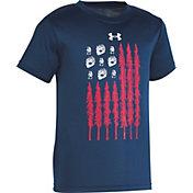 66e175f0 Under Armour Little Boys' Tracks and Trees Flag Short Sleeve T-Shirt